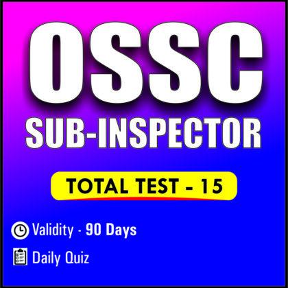 OSSC SUB-INSPECTOR EXAM 2019