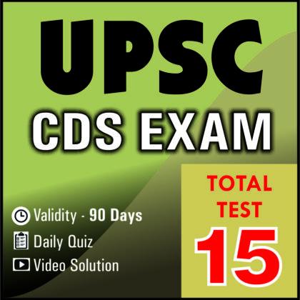 UPSC CDS EXAM 2019