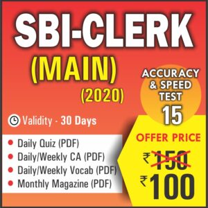 SBI CLERK MAIN EXAM 2020