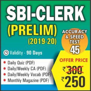 SBI CLERK PRELIM EXAM 45 Tests